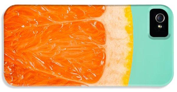 Blood Orange Slice Macro Details IPhone 5 Case by Radu Bercan