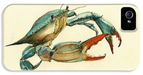 Blue Crab Painting IPhone 5 Case