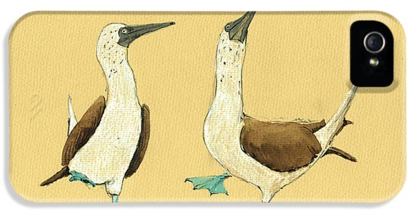 Blue Footed Boobies IPhone 5 Case by Juan  Bosco