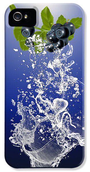Blueberry Splash IPhone 5 Case by Marvin Blaine