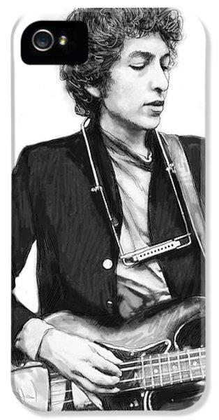 Bob Dylan Drawing Art Poster IPhone 5 Case by Kim Wang