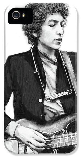 Bob Dylan Drawing Art Poster IPhone 5 / 5s Case by Kim Wang