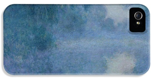 Impressionism iPhone 5 Case - Branch Of The Seine Near Giverny by Claude Monet