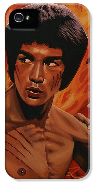 Bruce Lee Enter The Dragon IPhone 5 Case by Paul Meijering