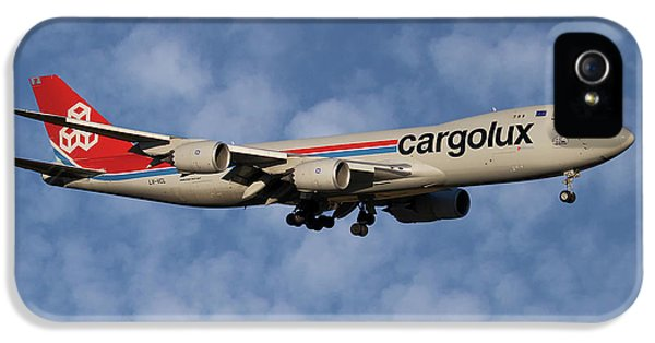 Jet iPhone 5 Case - Cargolux Boeing 747-8r7 1 by Smart Aviation