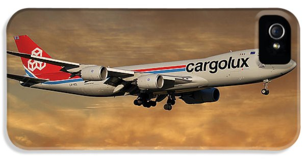 Jet iPhone 5 Case - Cargolux Boeing 747-8r7 2 by Smart Aviation