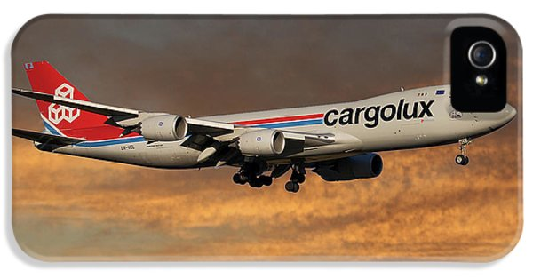 Jet iPhone 5 Case - Cargolux Boeing 747-8r7 3 by Smart Aviation