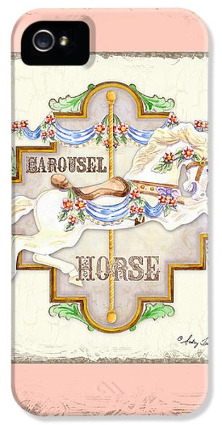 Bunting iPhone 5 Case - Carousel Dreams - Horse by Audrey Jeanne Roberts