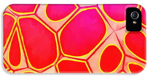 Blue iPhone 5 Case - Cells Abstract Three by Edward Fielding