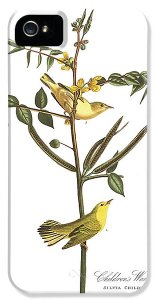Children's Warbler IPhone 5 Case by John James Audubon