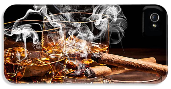 Cigar And Alcohol Collection IPhone 5 Case