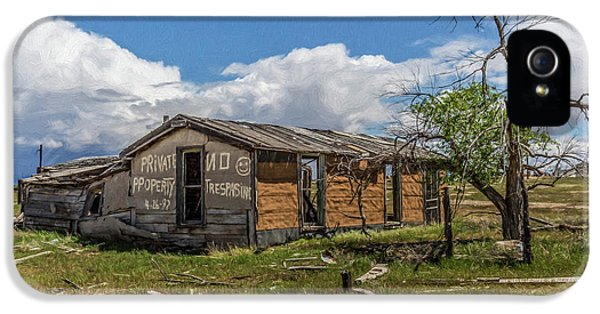 Cisco, Utah, Ghost Town IPhone 5 Case by Janice Bennett