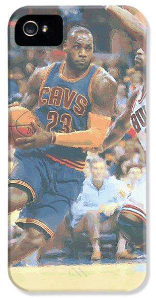 Cleveland Cavaliers Lebron James 2 IPhone 5 / 5s Case by Joe Hamilton