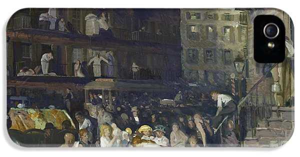 Cliff Dwellers IPhone 5 Case by George Wesley Bellows