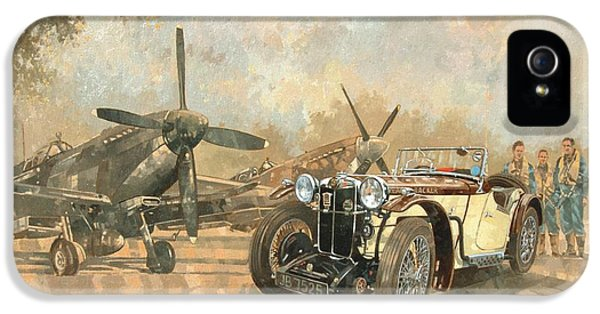 Cream Cracker Mg 4 Spitfires  IPhone 5 Case by Peter Miller