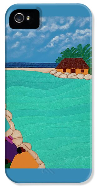 iPhone 5 Case - Curacao Lagoon by Synthia SAINT JAMES