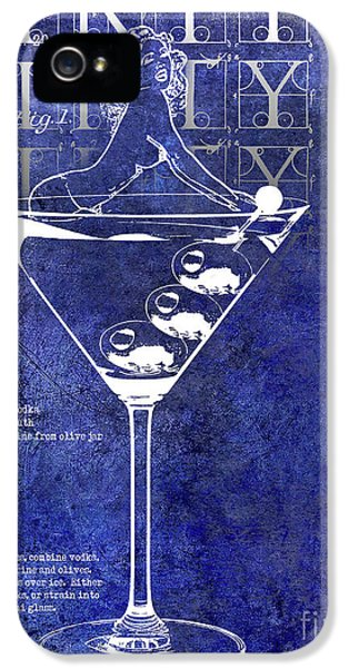 Dirty Dirty Martini Patent Blue IPhone 5 Case