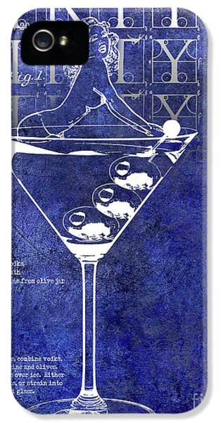 Dirty Dirty Martini Patent Blue IPhone 5 Case by Jon Neidert