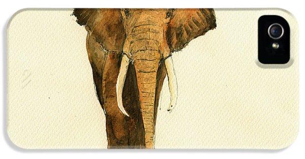 Elephant Watercolor IPhone 5 Case