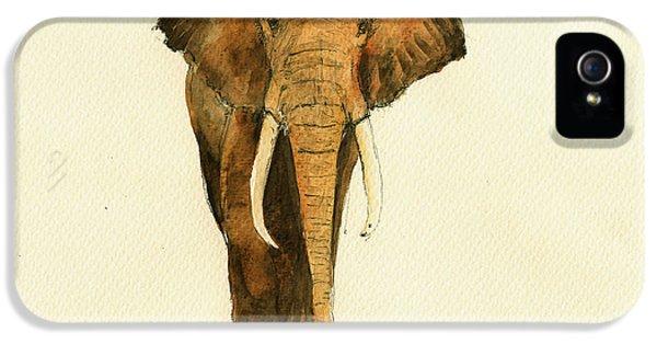 Elephant Watercolor IPhone 5 Case by Juan  Bosco