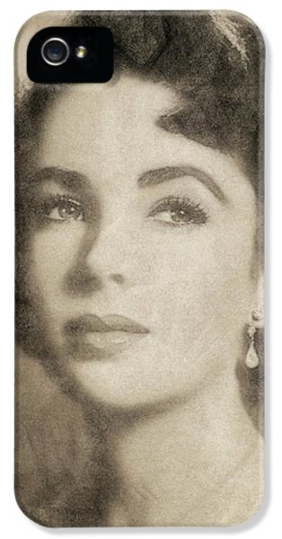 Elizabeth Taylor, Vintage Hollywood Legend By John Springfield IPhone 5 Case