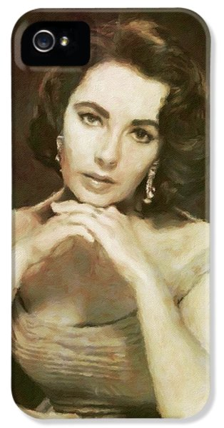Elizabeth Taylor, Vintage Hollywood Legend By Mary Bassett IPhone 5 Case