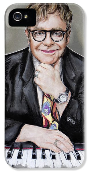 Elton John iPhone 5 Case - Elton John by Melanie D