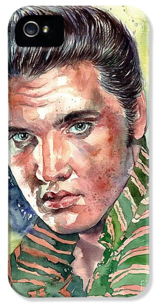 Elvis Presley iPhone 5 Case - Elvis Presley Portrait by Suzann's Art