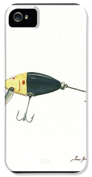 Fishing Lure  IPhone 5 Case by Juan Bosco
