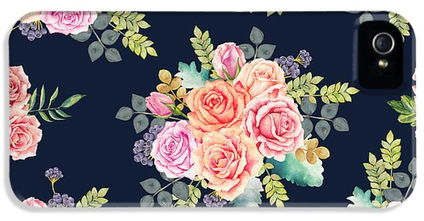 Floral Pattern 1 IPhone 5 Case by Stanley Wong