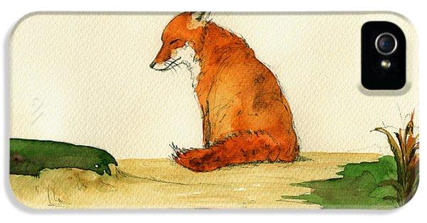 Fox Sleeping Painting IPhone 5 / 5s Case by Juan  Bosco