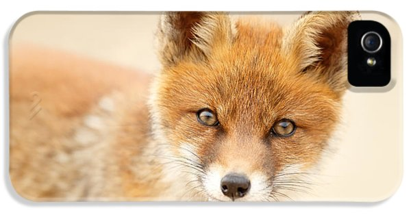 Foxy Face IPhone 5 Case by Roeselien Raimond