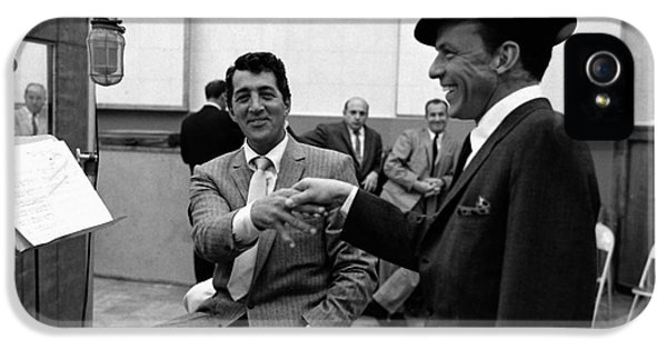 Frank Sinatra And Dean Martin At Capitol Records Studios 1958. IPhone 5 / 5s Case by The Titanic Project