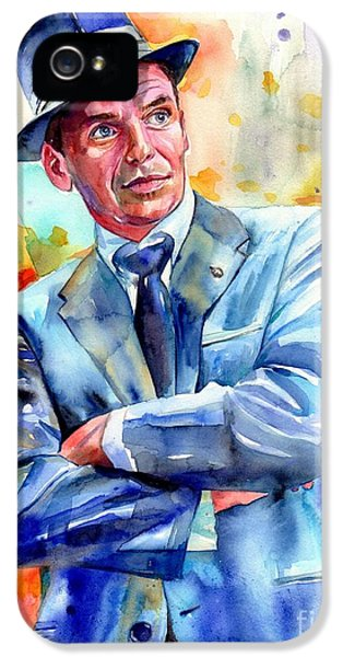 Fairy iPhone 5 Case - Frank Sinatra Young Painting by Suzann's Art