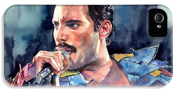 Legends iPhone 5 Case - Freddie Mercury Portrait by Suzann's Art