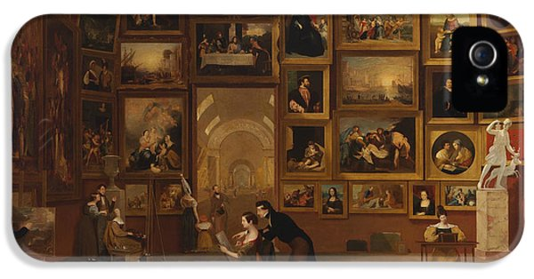 Gallery Of The Louvre IPhone 5 Case by Samuel Morse