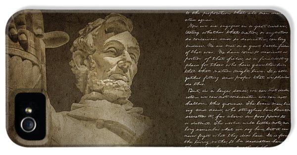 Gettysburg Address IPhone 5 / 5s Case by Diane Diederich