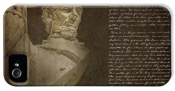 Gettysburg Address IPhone 5 Case by Diane Diederich