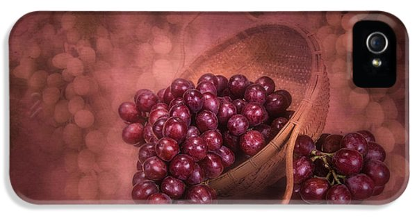 Grapes In Wicker Basket IPhone 5 Case by Tom Mc Nemar