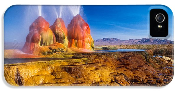 Green Fly Geyser IPhone 5 Case by Inge Johnsson