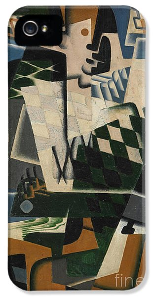 Harlequin With A Guitar, 1917 IPhone 5 Case by Juan Gris