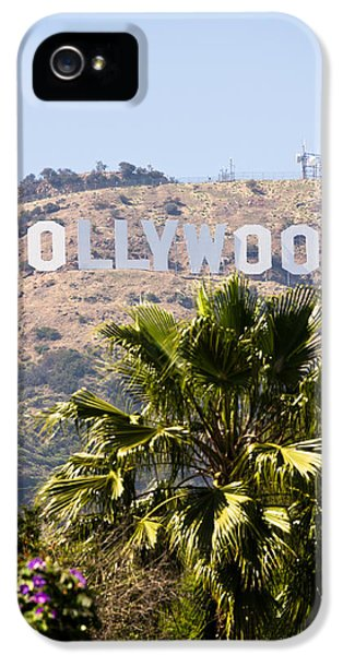 Hollywood Sign Photo IPhone 5 Case by Paul Velgos