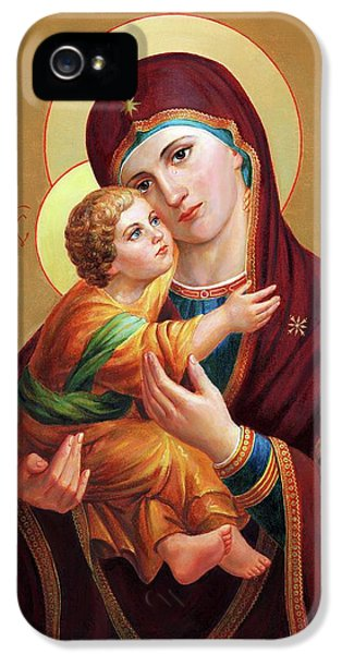 iPhone 5 Case - Holy Mother Of God - Blessed Virgin Mary by Svitozar Nenyuk
