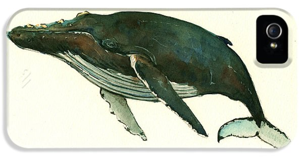 Humpback Whale  IPhone 5 / 5s Case by Juan  Bosco