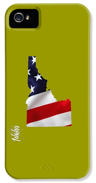 Idaho State Map Collection IPhone 5 Case by Marvin Blaine