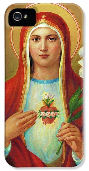 iPhone 5 Case - Immaculate Heart Of Mary by Svitozar Nenyuk