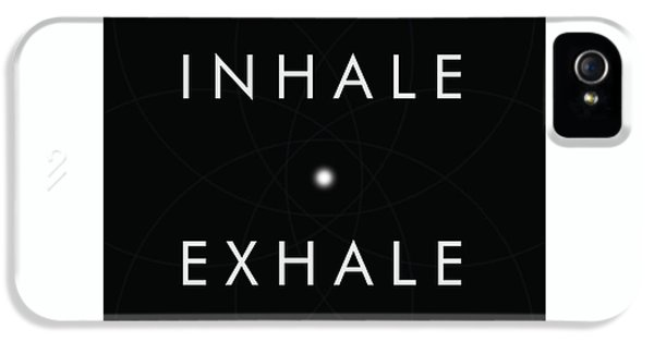 Breathe iPhone 5 Case - Inhale Exhale by Studio Grafiikka