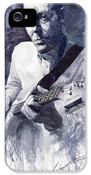 Jazz Guitarist Rene Trossman  IPhone 5 Case by Yuriy  Shevchuk