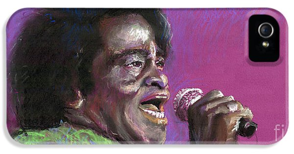Jazz. James Brown. IPhone 5 Case by Yuriy  Shevchuk