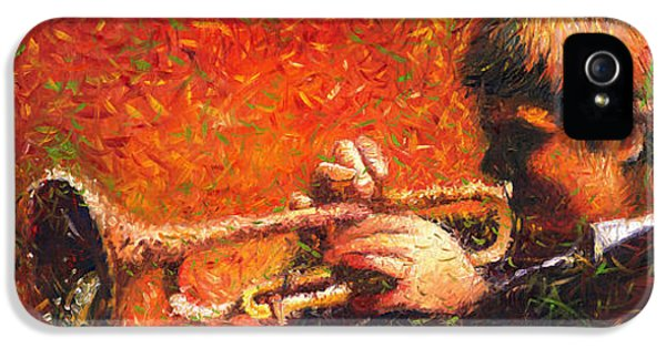 Jazz iPhone 5 Case - Jazz Trumpeter by Yuriy Shevchuk
